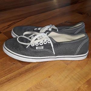 Van's shoes Womens size 6.5 Grey white Bin4